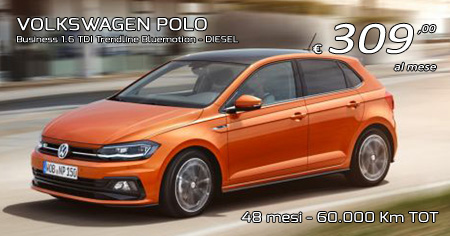 VW POLO Business 1.6 TDI Trendline - Diesel - 309,00 €/mese